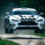 Aston Martin V8 Vantage som rallybil