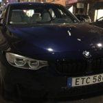 Sköna vinterbilder på en BMW M3 i Stockholm