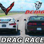 Corvette C8 vs Dodge Challenger Demon