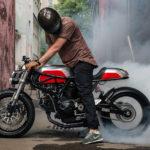 Fet Ducati Custom från Moskva