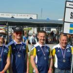 Hampus, Oskar och Anton är grabbarna som skall representera Sverige i Supermoto Lag-VM