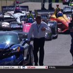 GM chef sätter en 755 hästars Corvette i räcket och stoppar IndyCar GP start