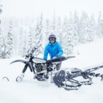 Klassisk Yamaha XT500 Snow Bike