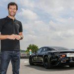 Porsche Mission E med 600 hästkrafter testas av Mark Webber