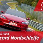 Tesla Model S Plaid har satt nytt EV rekord på Nürburgring med tiden 7:35