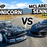 Ken Block's 1,400hp AWD Ford Mustang Hoonicorn möter McLaren Senna Merlin